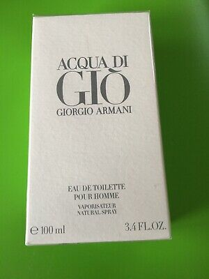 Acqua Di Gio by Giorgio Armani 3.4oz EDT Spray for Men New * Sealed