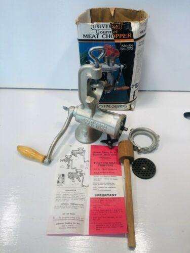 Vintage Universal Gourmet Food Chopper Model 323 Meat Grinder