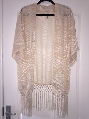 Topshop Lace Kimono Boho Size 10