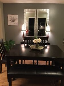 Ashley Furniture black-brown wooden table