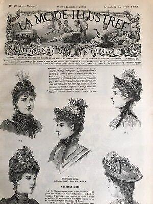 MODE ILLUSTREE SEWING PATTERN April 17,1892 CORSET