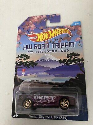 Hot wheels NISSAN SKYLINE GT-R (R34) road trippin