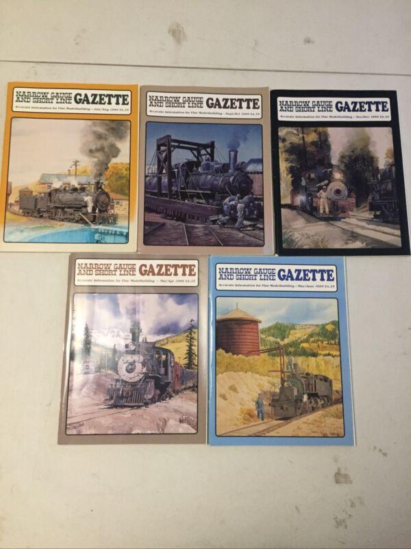 Lot Of 5) Narrow Gauge and Short Line Gazette Magazine - Mar-Dec 1999