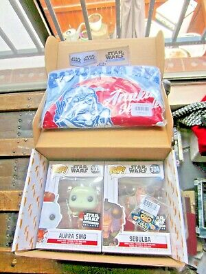 Star Wars Smugglers Bounty Box-Aurra Sing & Sebulba Funko Pop Plus Large T-shirt