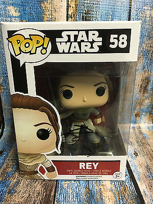 Star Wars Force Awakens Daisy Ridley Funko Pop Vinyl Autographed Signed Jsa Coa