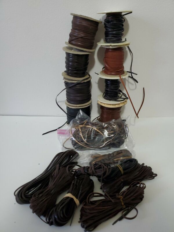 Large variety pack of leather and vinyl crafting lace. GREAT DEAL