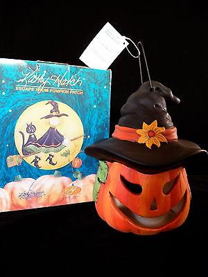 Kathy Hatch Halloween Jack-O-Lantern Witch Luminary NEW