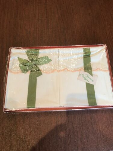 PR VINTAGE PILLOWCASES New in package. PEACH SCALLOPS. CANNON COMBSPUN. NOS