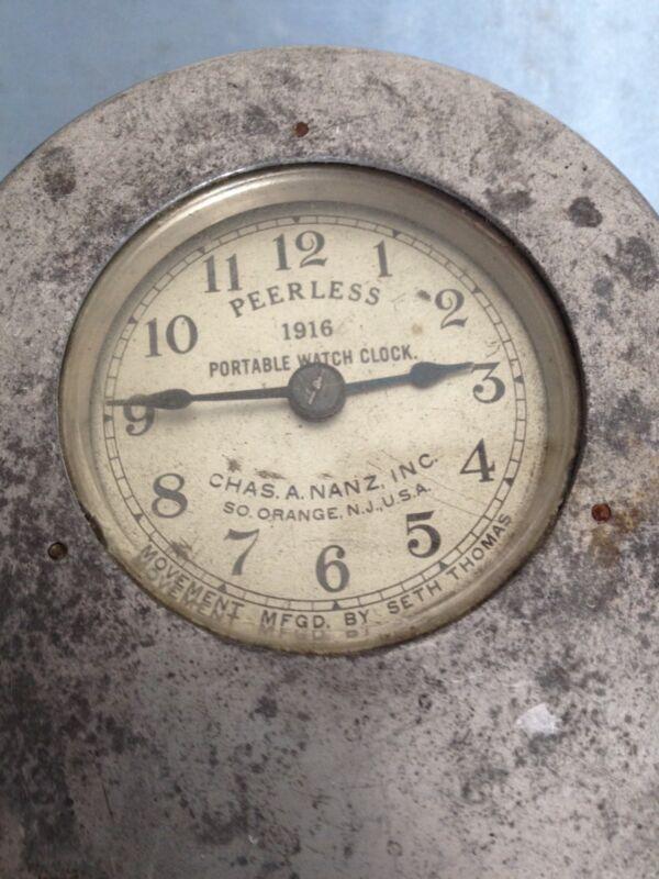 VINTAGE PEERLESS 1916 PORTABLE WATCH CLOCK MOVEMENT MFGD BY SETH THOMAS