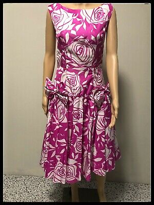 80s Dresses | Casual to Party Dresses Dazzle in this Vintage 80's Dropped Waist Big Bow Dress! $29.21 AT vintagedancer.com