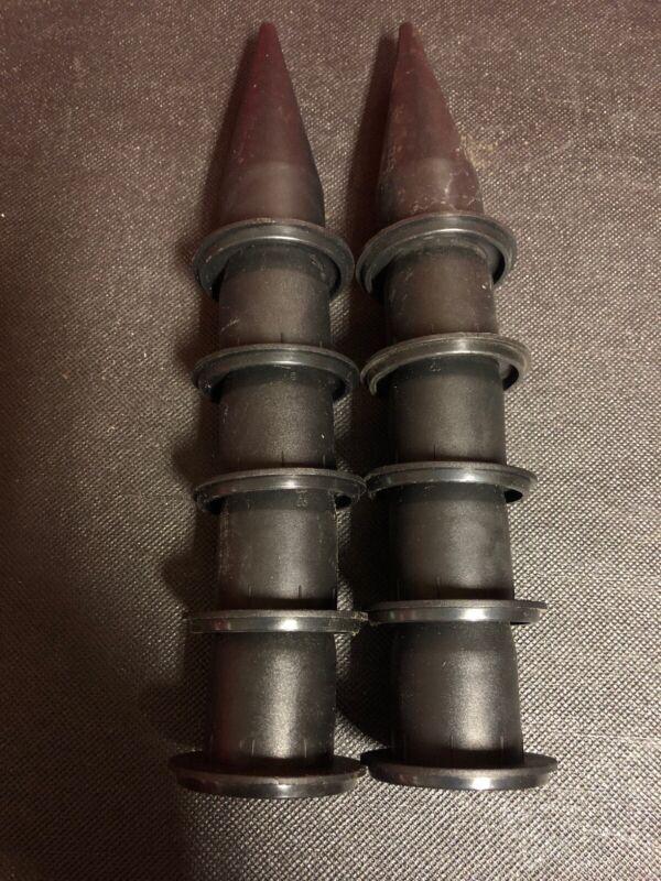 Albion Caulk Gun Nozzle, 873-3 B-Line, Black Cone, 10 pack