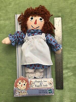 """2000 Hasbro Raggedy Ann 12"""" Cloth Plush Doll New In Box Rag Doll Toy Red Hair (Raggedy Ann Hair)"""