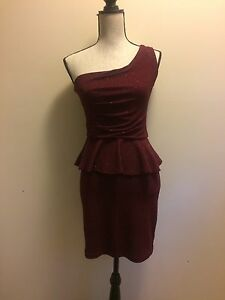 Women's size large red one shoulder dress