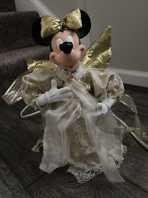 Disney Minnie Mouse Christmas Angel Animated Tree Topper / table