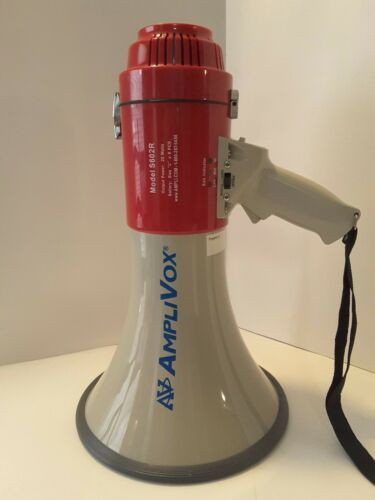 AMPLIVOX SOUND SYSTEMS S602R Megaphone, 25watts w/siren & whistle