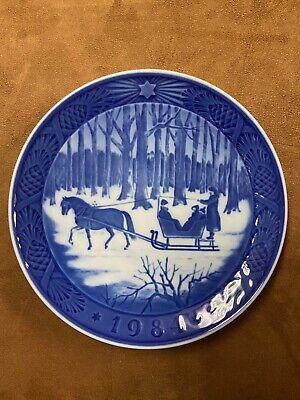 Royal Copenhagen Limited Edition 1984 Christmas Plate