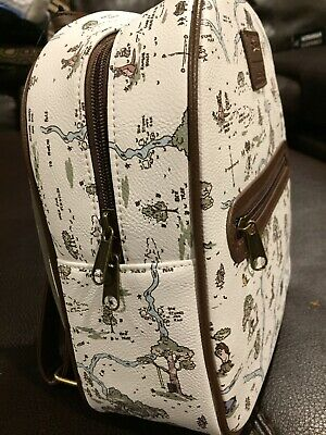 Disney Loungefly Winnie the Pooh Mini Backpack Hundred Acre Wood Map