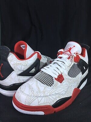 Jordan Retro 4 Laser Fire Red Size 11.5 Retro Laser
