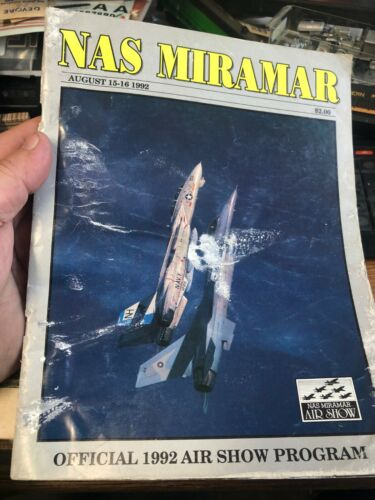 NAS MIRAMAR AUGUST 15-16 1992 airshow program