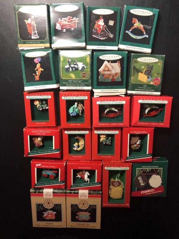 hallmark keepsake miniature ornaments