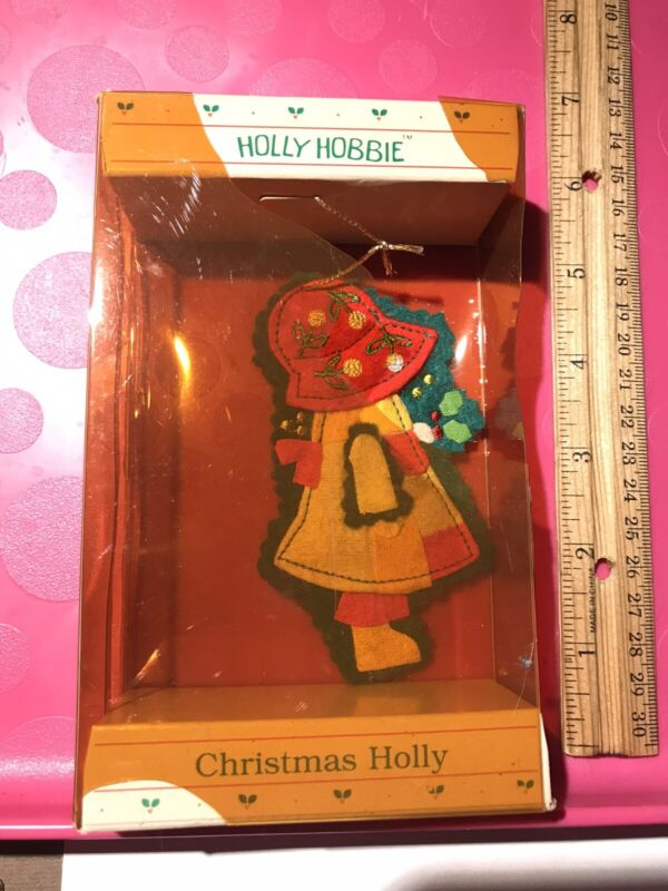 Vintage 1989 Holly Hobbie Fabric Christmas Ornament American Greetings Corp