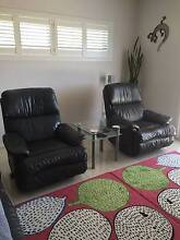 MORAN LEATHER LOUNGE SUITE GREY:RECLINERS X2 Mount Barker Mount Barker Area Preview