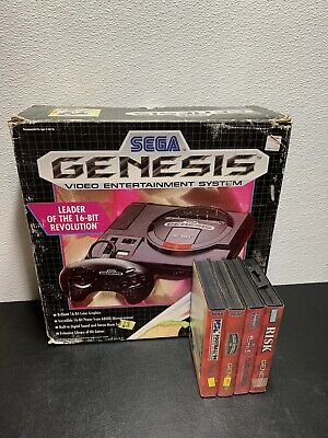 Original Sega Genesis 16-Bit Console With Box- PLEASE READ DESCRIPTION!