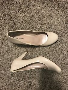 Nude heel shoes size 11