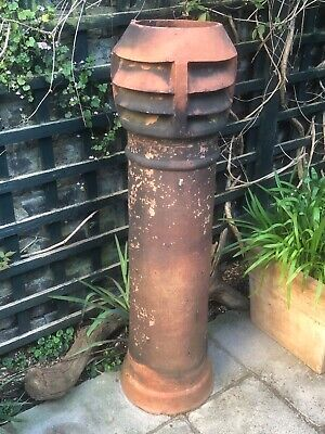 Reclaimed Victorian? Red Terracotta Louvred Top Chimney Pot Height 45