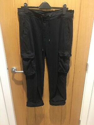James Perse Black Cargo Joggers Size 2