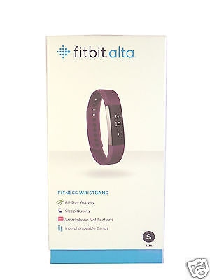 New Fitbit Alta Smart Activity and Sleep Tracker Small Plum In Stock 2016 Model