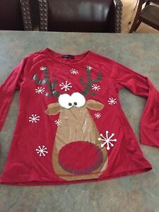 Xmas pj top sz medium $2