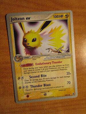 PL WC-2006 (Tom) Pokemon JOLTEON EX Card DELTA SPECIES Set 109/113 World PLAYED - Pokemon Toms