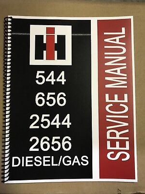544 international harvester tractor technical service shop repair manual