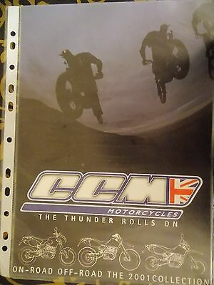CCM MOTORCYCLES SALES BROCHURE 2001