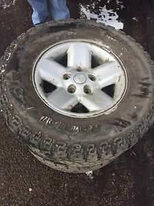 Dodge Ram 1500 rims and tires-pair
