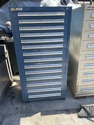 Stanley Vidmar 14 Drawer Tool Cabinet