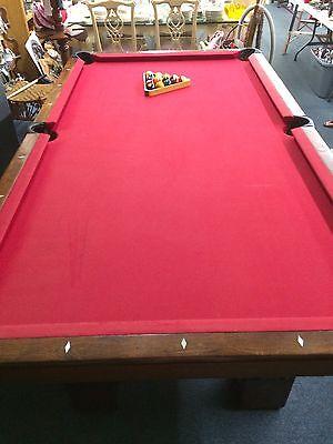 Antique Pool Table Monarch Brunswick Balke Collender Co. Cushion Circa Late  1800