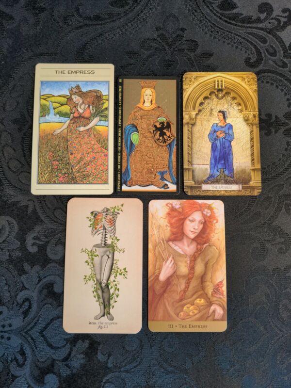 5 *The EMPRESS* Coordinated Tarot Cards *All Different* OCCULT Art!