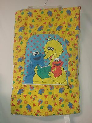 vtg Sesame Street toddler kids sleeping bag Elmo Cookie Monster Big Bird - Elmo Sleeping Bag