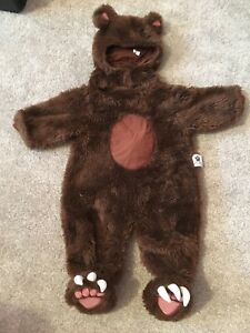 Size 6-12 month bear costume