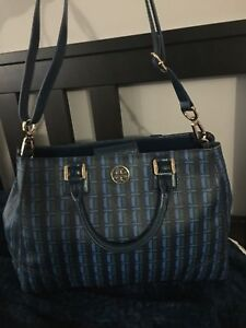 Tory burch leather medium size tote
