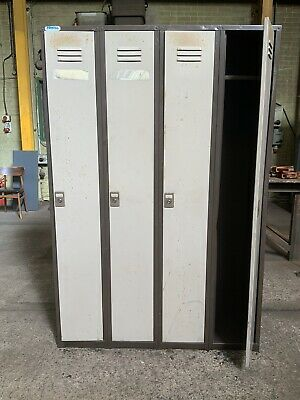 Vintage Industrial 4 Door Metal Lockers