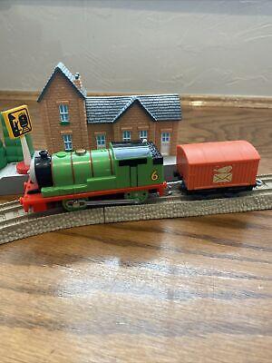 Thomas & Friends Trackmaster Train 2013 Percy Motorized Engine w/Letter Car Set