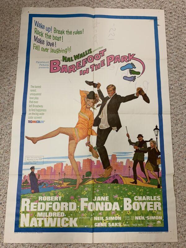 BAREFOOT IN THE PARK MOVIE POSTER, Robert Redford, Jane Fonda VINTAGE