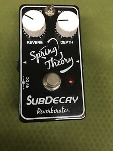 Subdecay Spring Theory Reverb pedal boutique