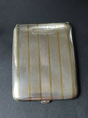 VTG Sterling Silver 925S &14K Gold Cigarette Case by ELGIN, 104g