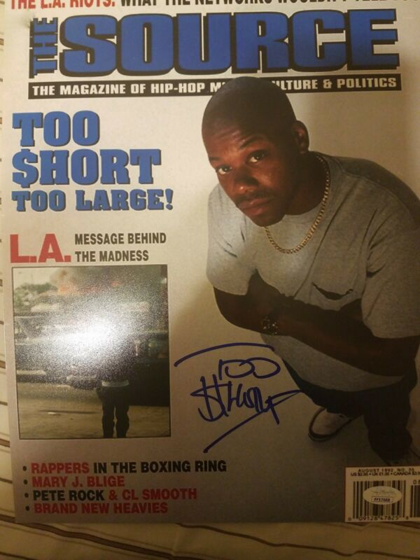 Too Short Signed Autograph 11x14 of Source Cover Becket COA Oakland Bay Area