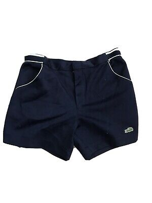 Lacoste Tennis Shorts Vintage Live Navy Croc 32 33 Inch Great Pair Bottoms for sale  Shipping to South Africa