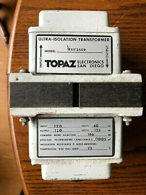 Topaz Electronics Ultra-isolation Transformer Model 1811t35s5r